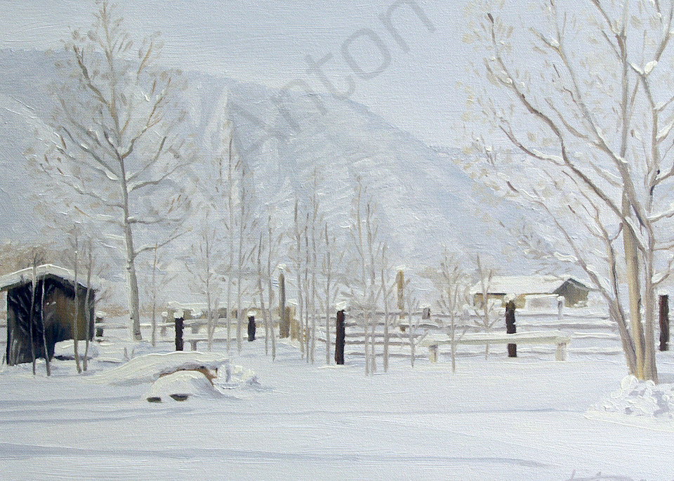 Winter at Emma Ranch by artist, Anton Uhl