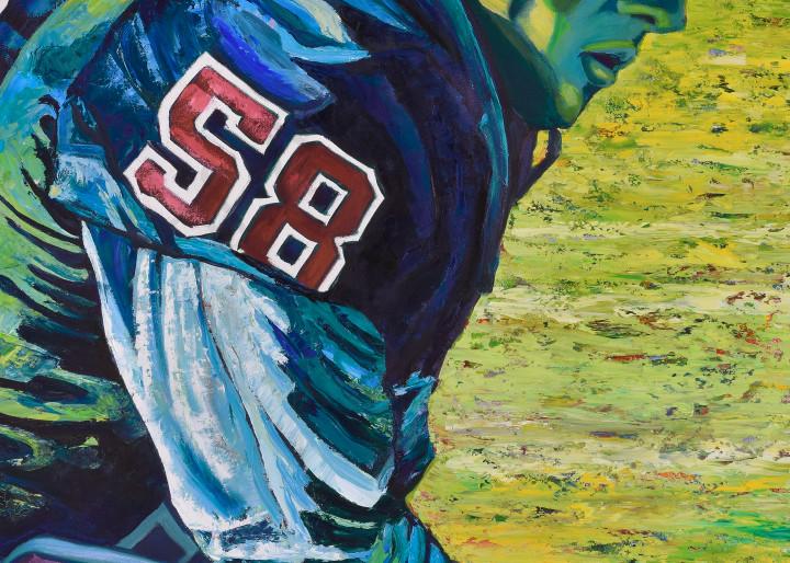 """""""Halftime Warrior"""" by artist, Anton Uhl"""