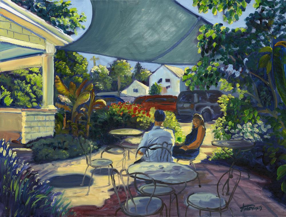 Morning Café by artist, Anton Uhl