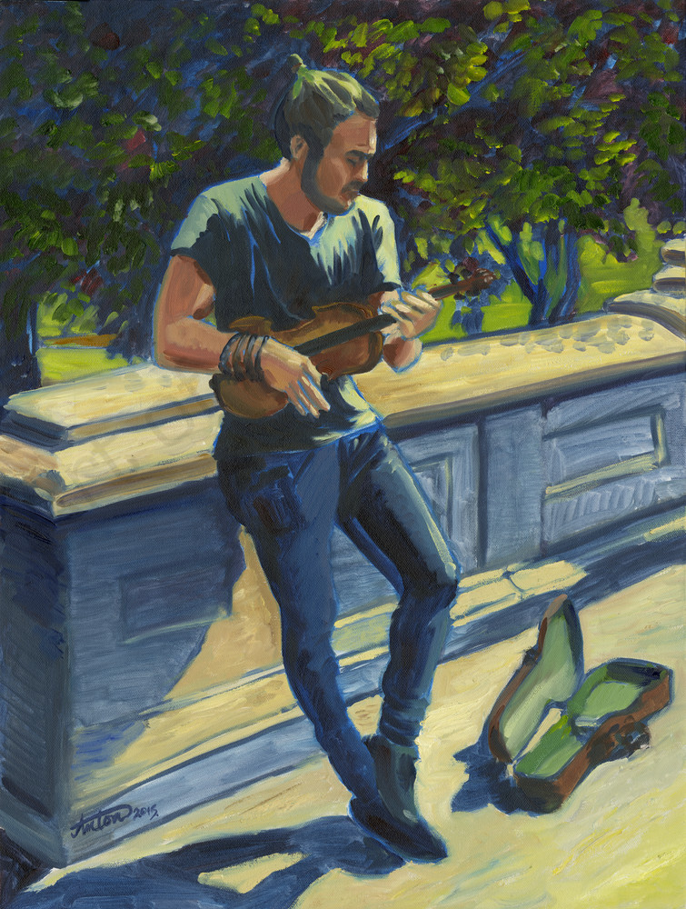 The Minstrel by artist, Anton Uhl