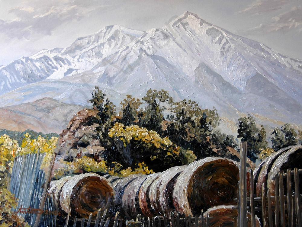 Sopris Hay by artist, Anton Uhl