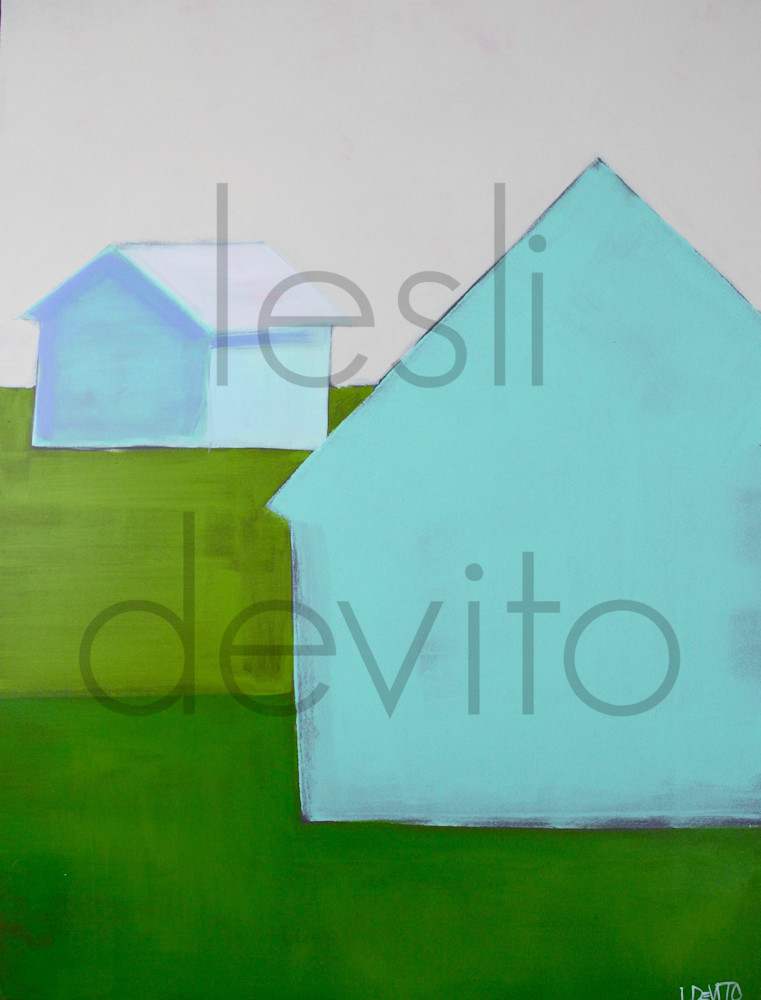 lesli devito original paintings art barns aqua