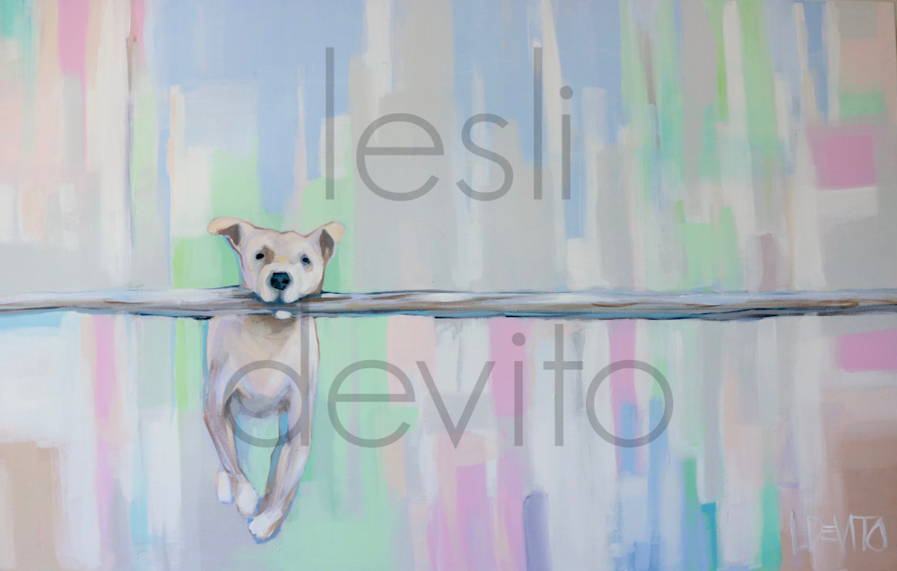 NEW !!! DOG WITH A STICK II - 24 X 36 - $100