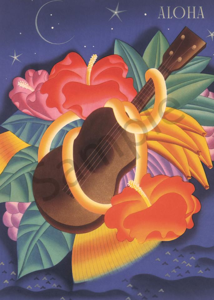 Retro Hawaiian Art | Aloha Ukulele by Frank MacIntosh