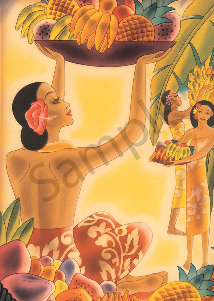 Retro Hawaiian Art   Tropical Fruit by Frank MacIntosh