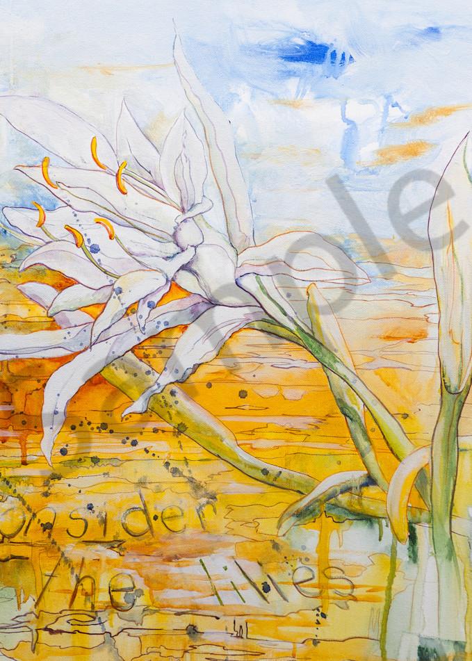 """Consider The Lilies"" by Australian artist Grace Bailey   Prophetics Gallery"