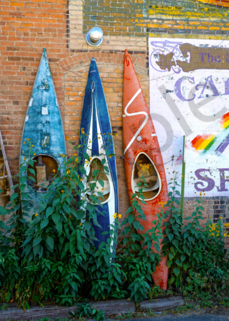 Kayaks In Salida, Co Art | Cunningham Gallery