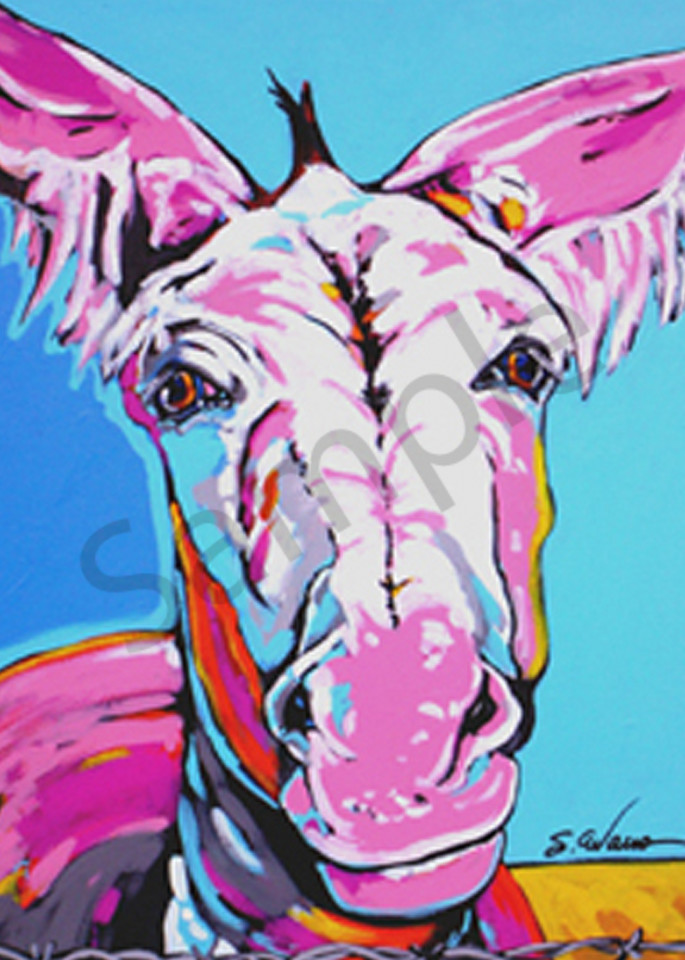 Cleo In Pink Art | Sally C. Evans Fine Art