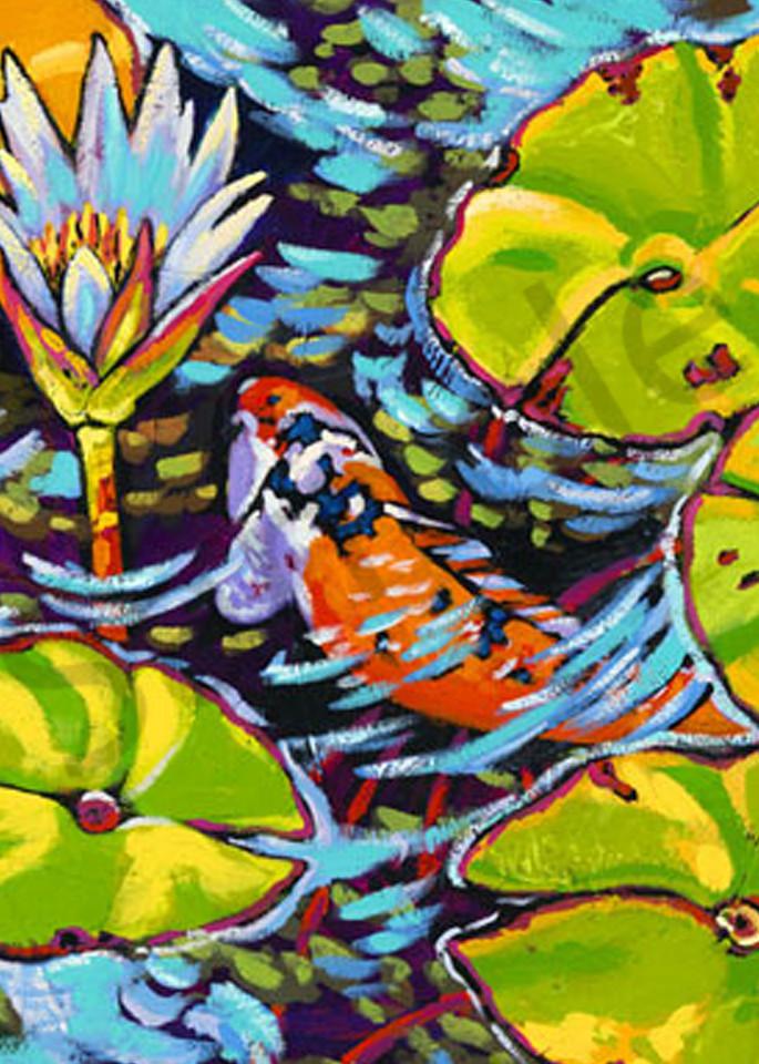 Gliding Through The Lilies Art | Sally C. Evans Fine Art