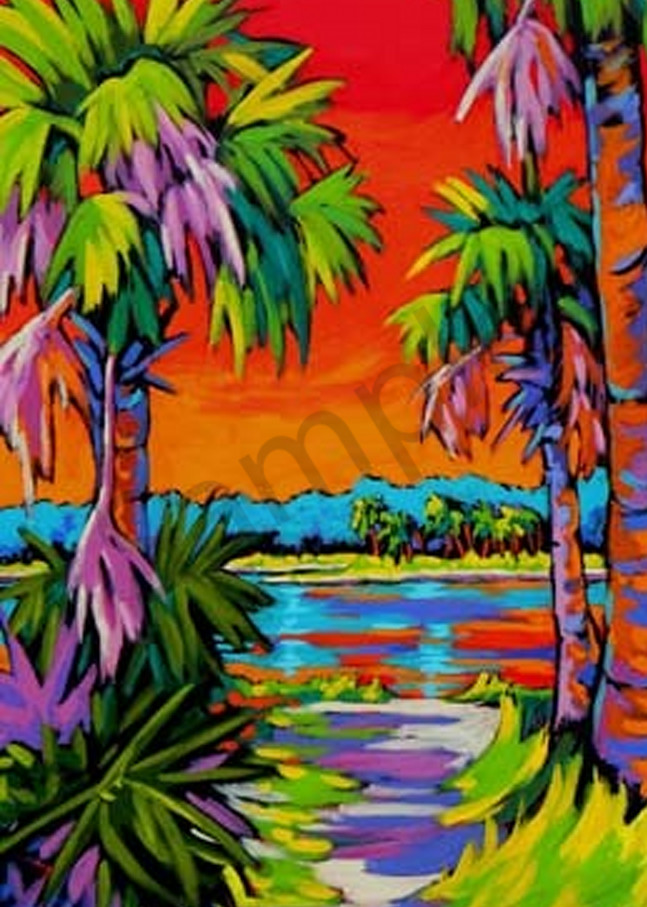 Intra Coastal Sunset Ii Art   Sally C. Evans Fine Art