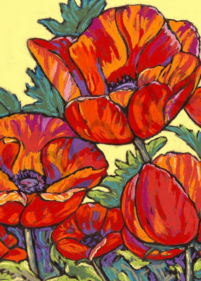 Poppies Dance In Yellow Art | Sally C. Evans Fine Art