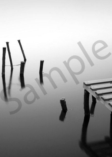 Small pier and wooden docks