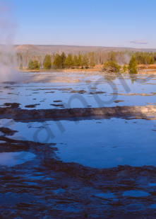 """Great Fountain Geyser """"resting"""", Yellowstone National Park, Wyoming"""