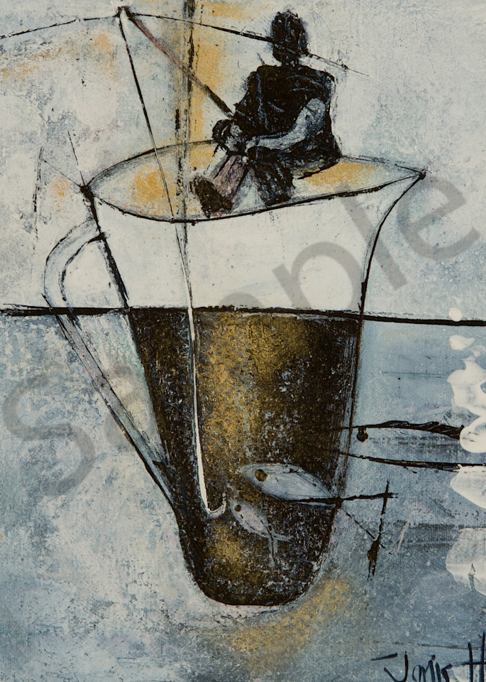 """Gone Fishing"" by Janis Lane-Hopley | Prophetics Gallery"