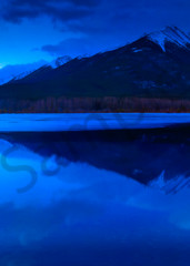 Bow Valley - Spring and Blue Hour. Banff National Park|Canadian Rockies|Rocky Mountains|