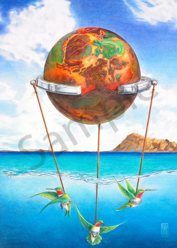 Tethered Sphere Art | Melissa A Benson Illustration