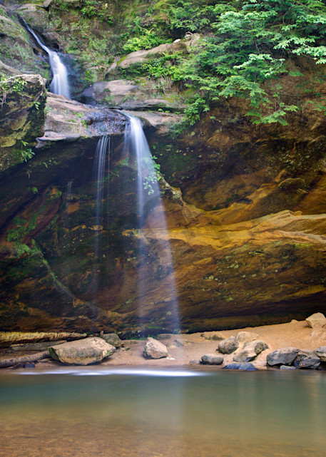 4163 4 5 4x6 Lower Falls Hocking Hills Art   Cunningham Gallery