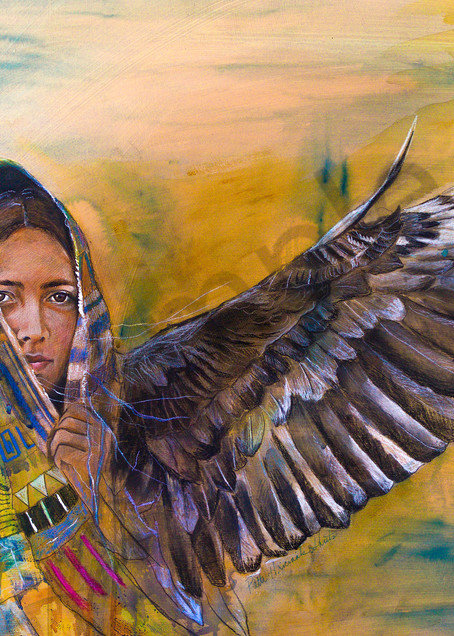 """Revelations 12:13-15 by Patti Hricinak-Sheets   Prophetics Gallery"