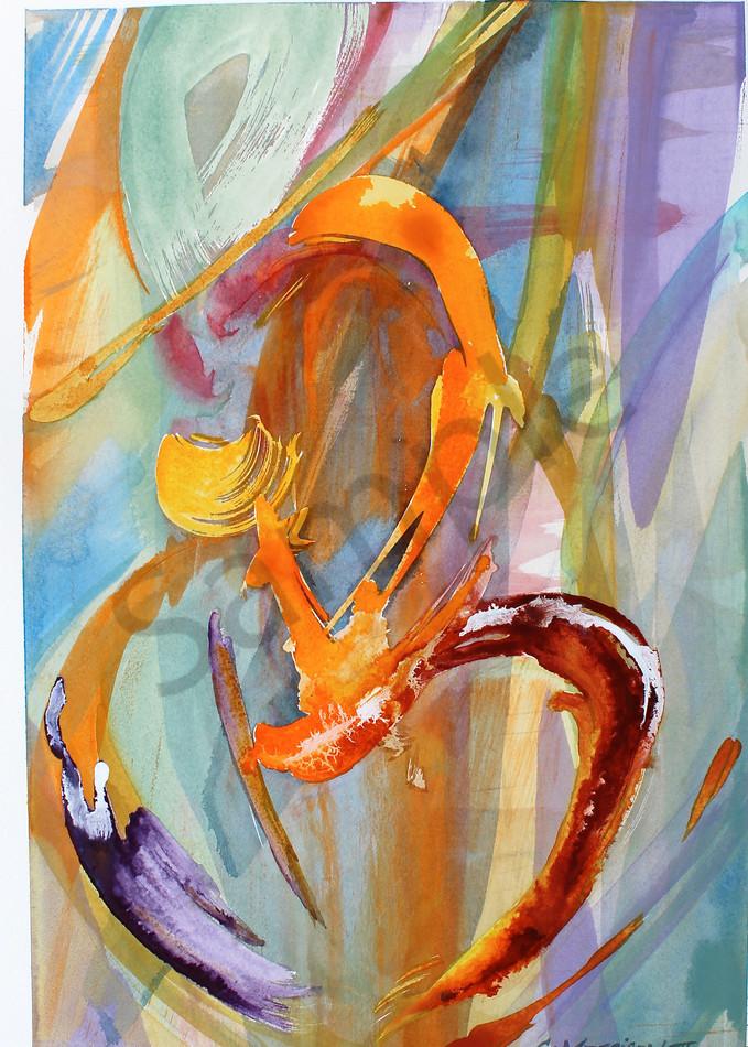 Dancing Energy | Abstract Watercolors | Gordon Meggison IV
