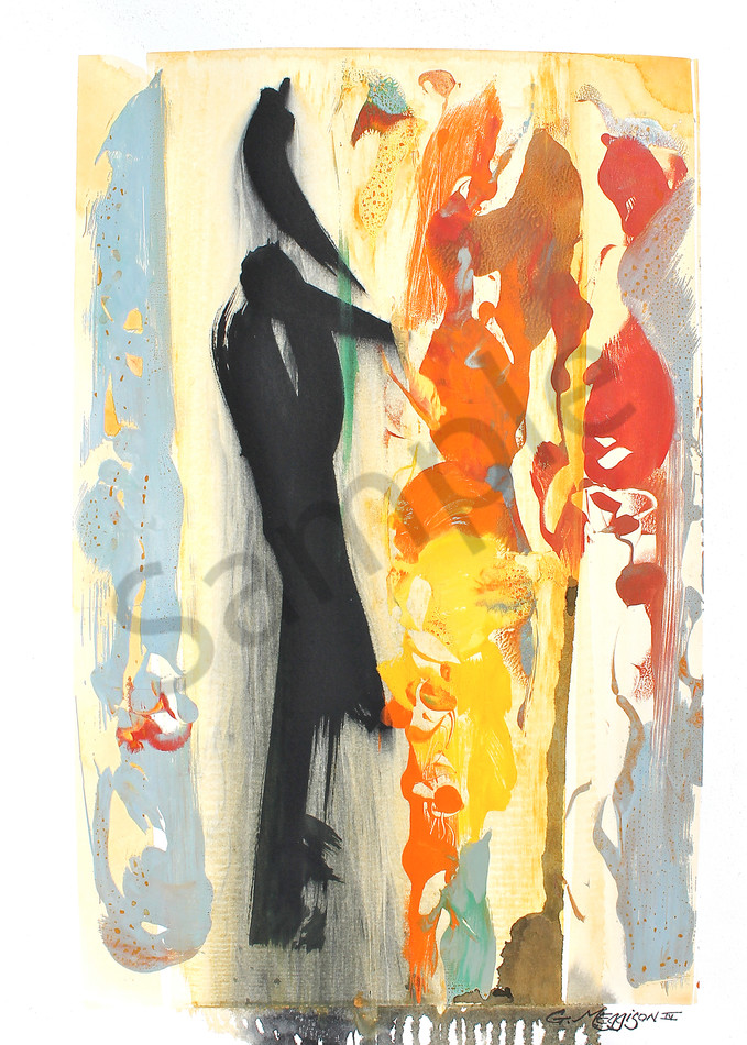 Mystery of Love 2 | Oil and Water Monoprints | Gordon Meggison IV