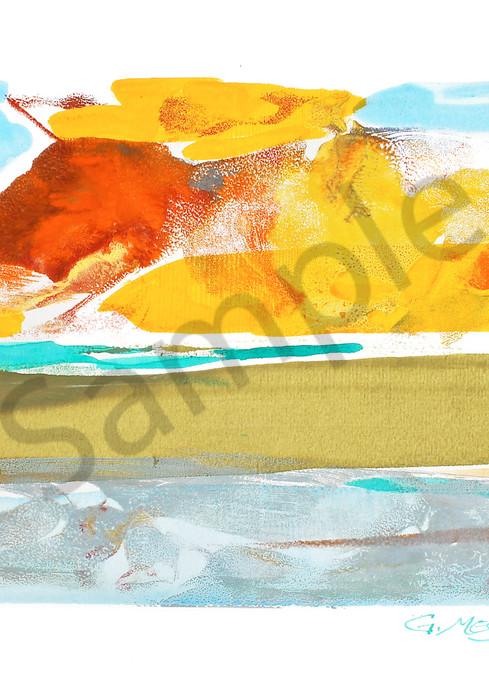 Morning Glory 2 | Abstract Watercolors and Oil Monoprints | Gordon Meggison IV