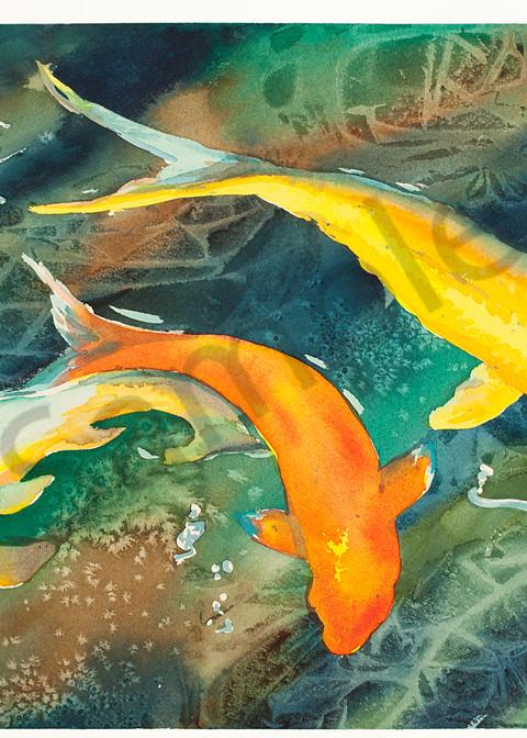 Sakura Koi 2 | Zen Landscapes | Gordon Meggison IV