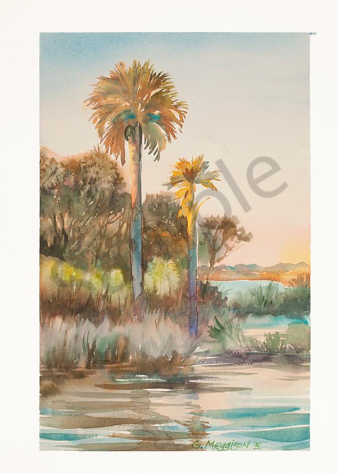 Guana Palms   Watercolor Landscapes   Gordon Meggison IV