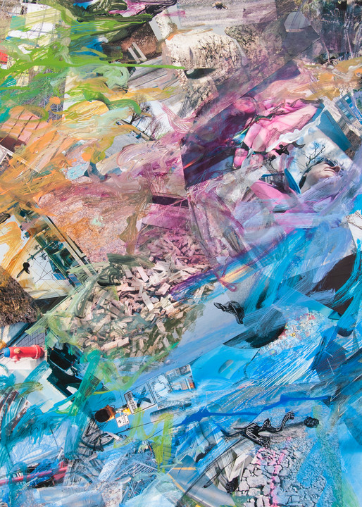 Buy Tipped - High Quality Print of Mixed Media original Dreamscape