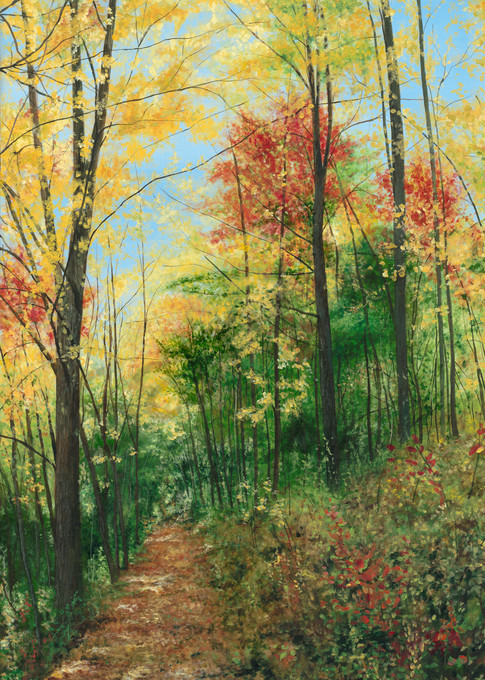 Fall Into The Path Provided Art | Art by Ashley Dull