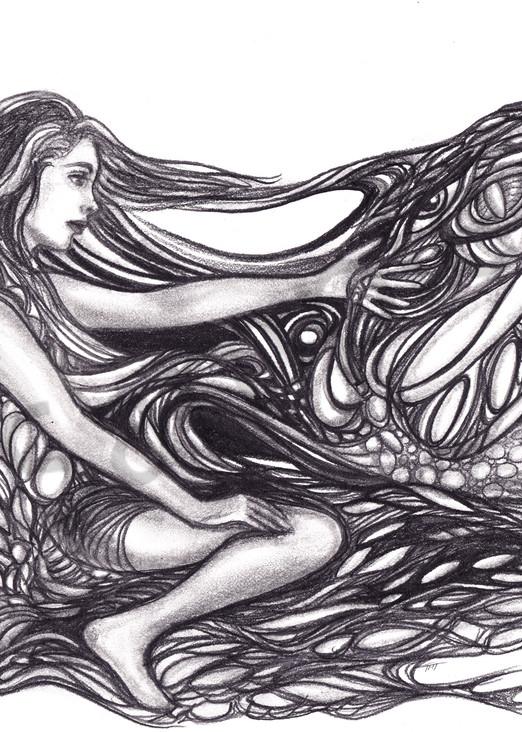 Its All Connected Surrealistic Pen & Pencil Art