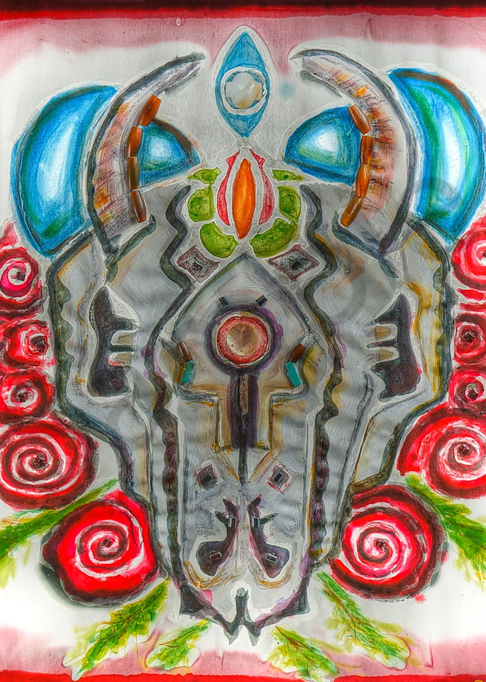 Ghost Dance Buffalo Rose Original Paintings Fine Art Prints on Canvas, Paper, Metal & More