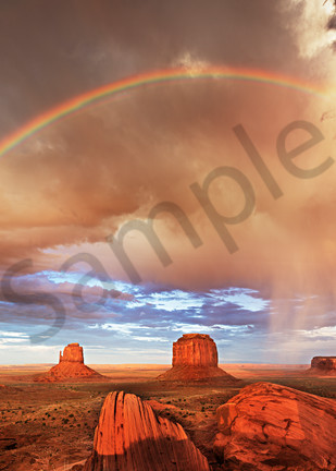 Monument Valley Double Rainbow Photography Art   frednewmanphotography