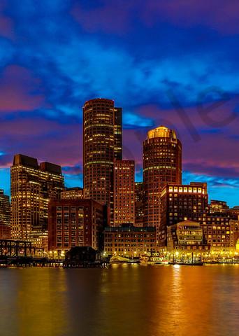 Boston Skyline 4 Photography Art | John Martell Photography