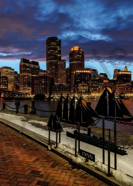 Boston Skyline 3 Photography Art | John Martell Photography