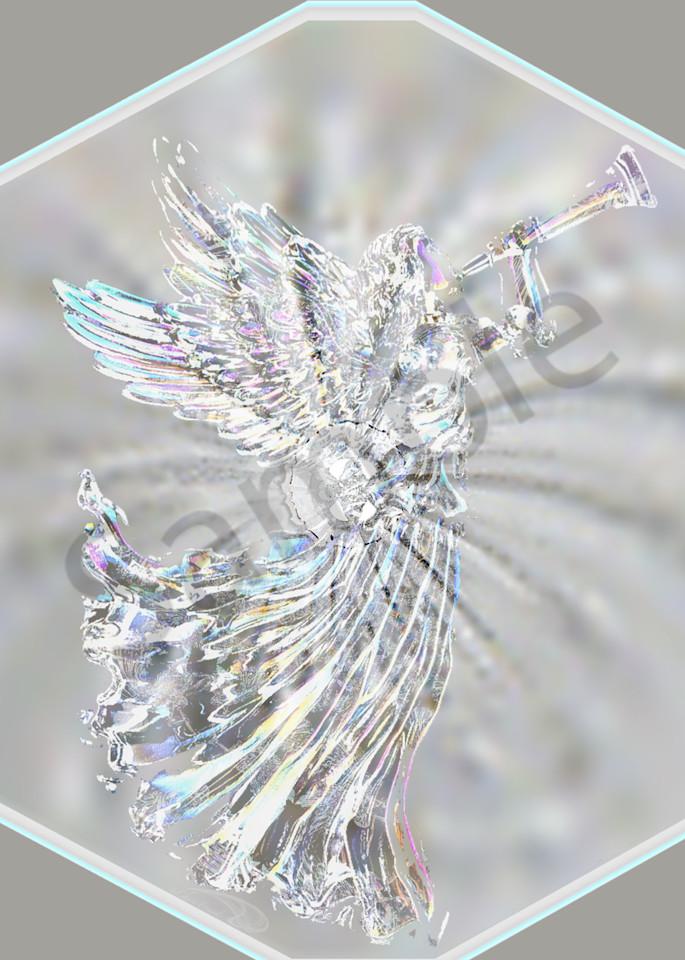 Angel Glass Vortex digital art by Cheri Freund