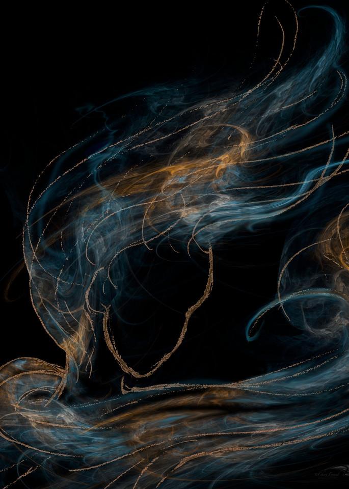 Her Essence wind-blown female digital art by Cheri Freund