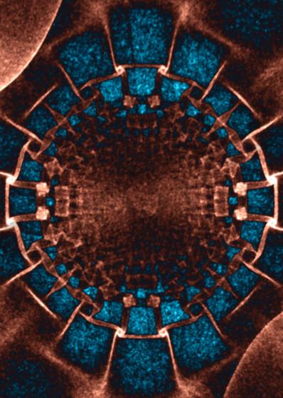 Disintegration Sci-Fi copper digital art by Cheri Freund