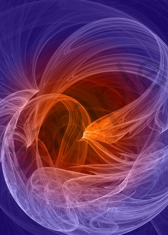 Winds of Change digital art wind-swept glowing fruit by Cheri Freund