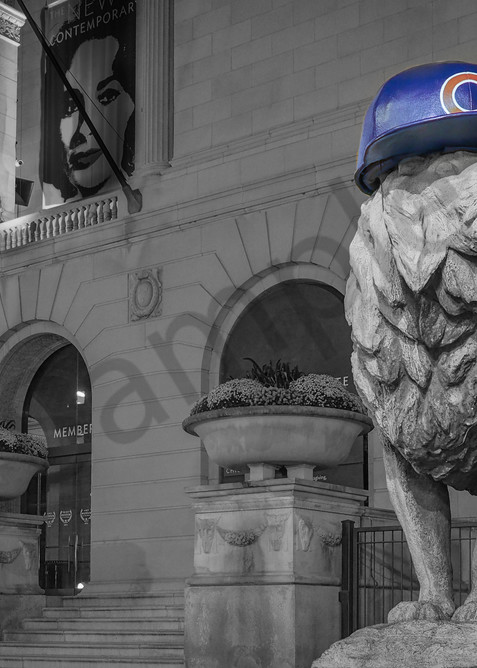 Chicago Cubs - lion from Chicago Art Institute - world series commemorative fine art wall print