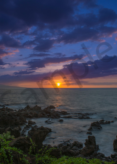 Maui - sunset in Hawaii, fine art wall print, fine art