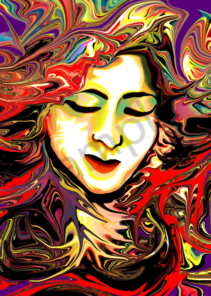 The Face in the Wicked Wind digital painting.