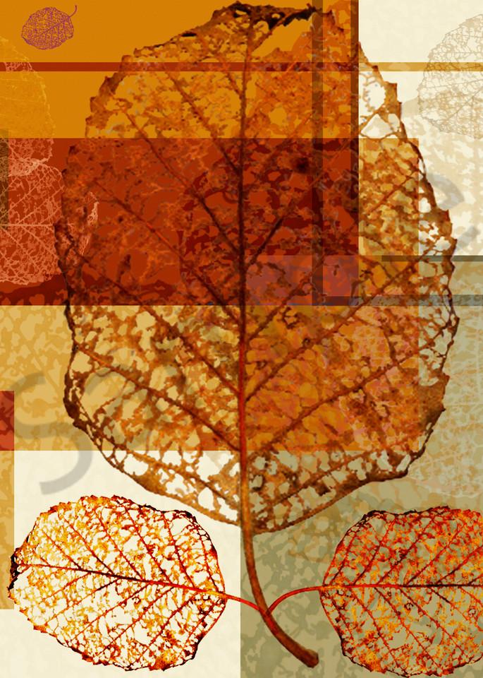 Contempo Leaves digital art by Cheri Freund