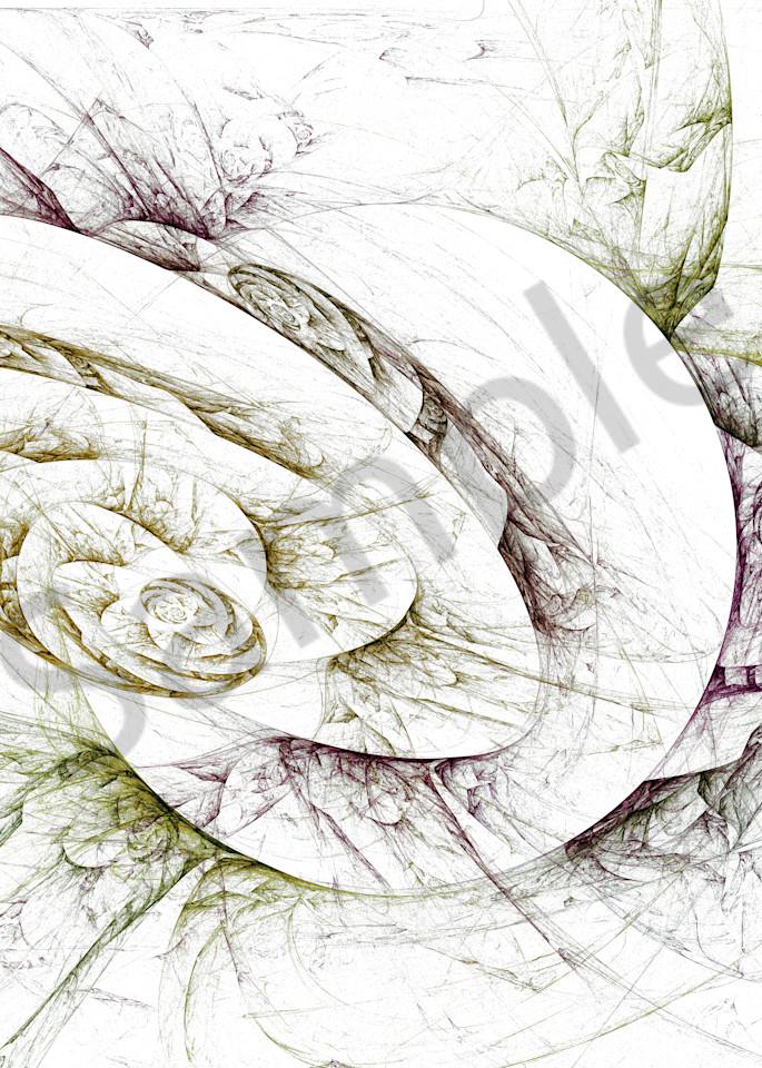 Spiral Collision digital art by Cheri Freund