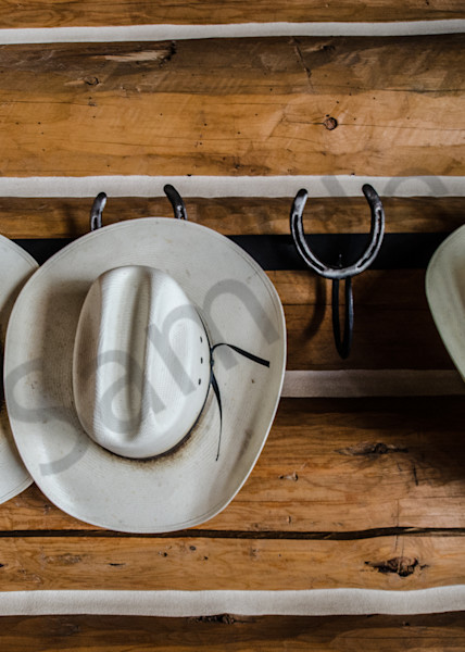 Cowboy Hats in Log Cabin Photo by Barb Gonzalez Photography