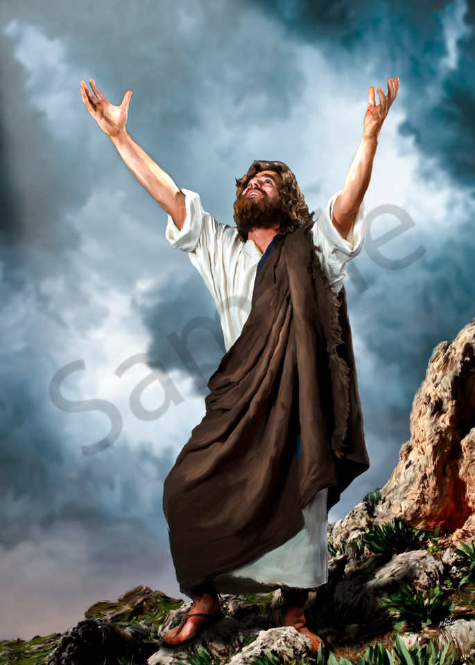 Jesus Offers Praise Art | MDM photo