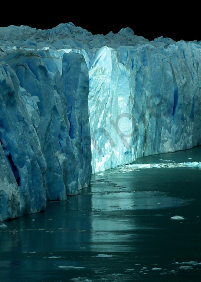 Magic light on Perito Moreno Glacier, Argentina, printed as photograph art