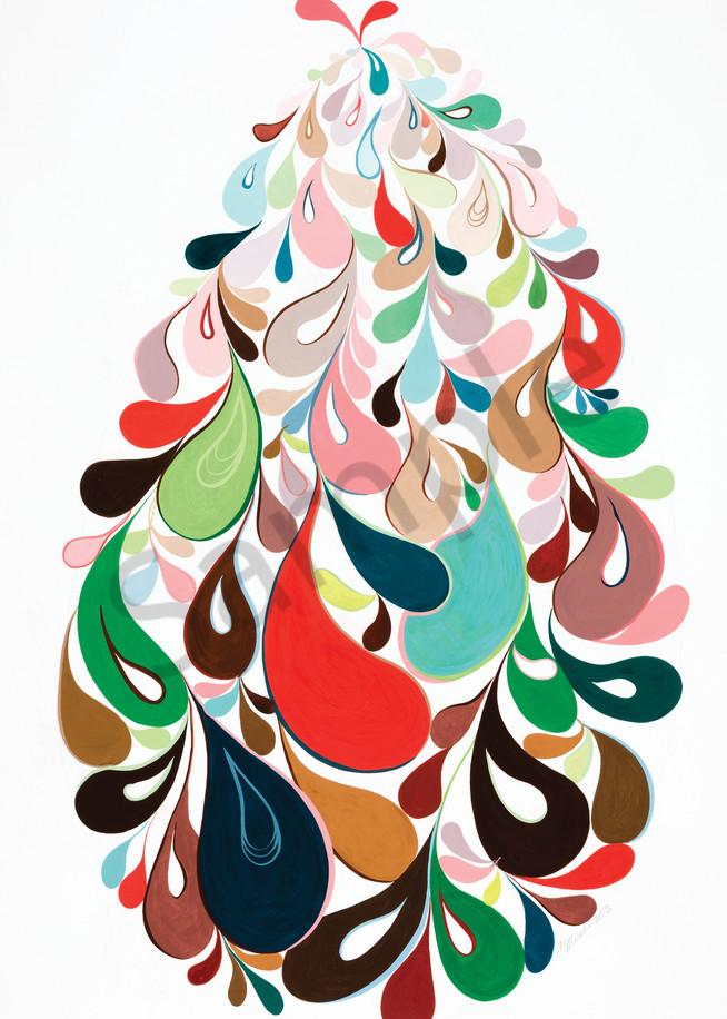 Swirl Egg Blue-green, Red-orange, Yellow-green