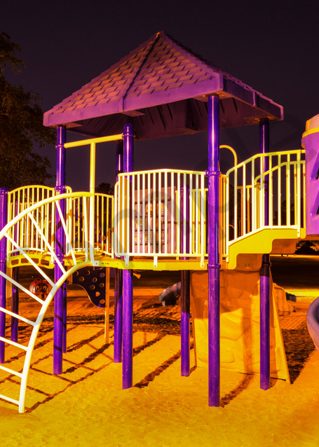 Park At Night Photography Art | frednewmanphotography