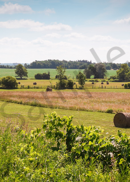 Rural and country landscape photograph of bales of hay in a farmer's field for sale as fine art by Sage  & Balm
