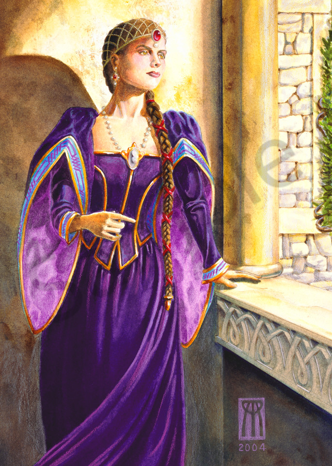Queen Guinevere role playing game print